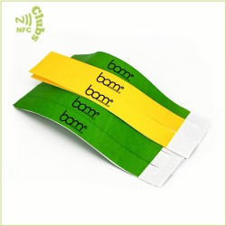 Colorful NFC Ultralight/C Disposable Tyvek Paper Wristband